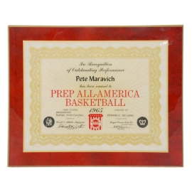 "1965 ""Pistol"" Pete Maravich Prep All-American High School Award"
