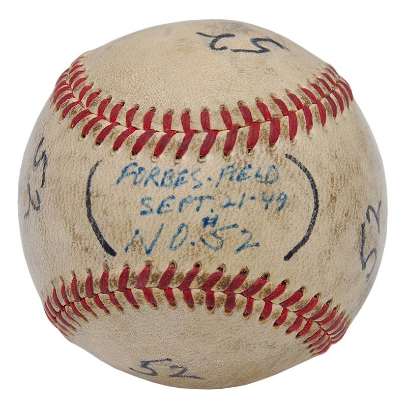 9 21 1949 Ralph Kiner Pittsburgh Pirates Game Used