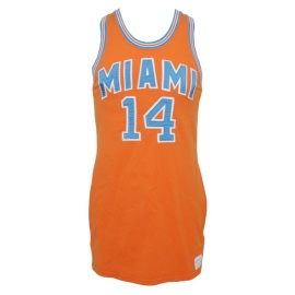 1969-70 Wil Jones Rookie Miami Floridians Game-Used Home Jersey with Stirrup Socks