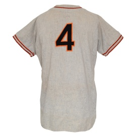 1947 Mel Ott New York Giants Manager's/Player Worn Road Jersey (Pristine Provenance)