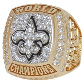 2009-10 Lance Moore New Orleans Saints Super Bowl XLIV Championship Players Ring With Original Presentation Box