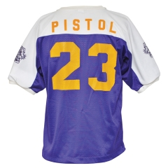 "Late 1960s ""Pistol"" Pete Maravich LSU Worn Shooting Shirt"