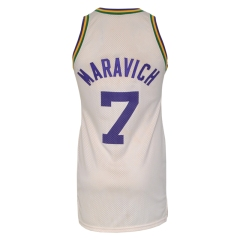 "Late 1970s ""Pistol"" Pete Maravich New Orleans Jazz Game-Used Home Jersey"