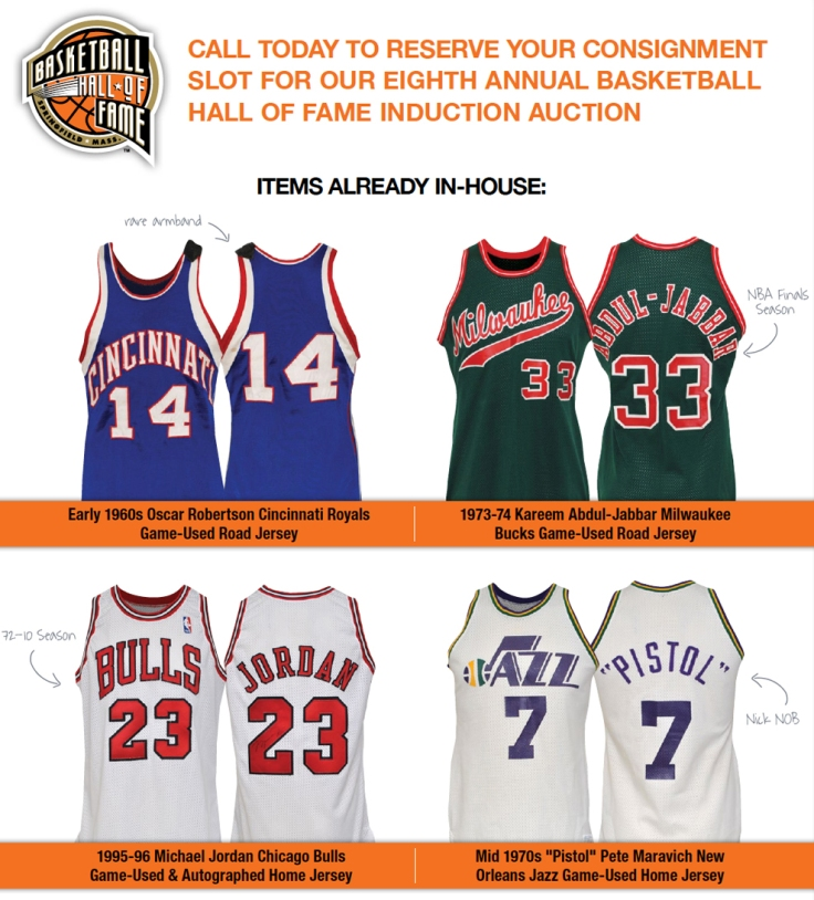 8th Annual Basketball Hall of Fame Induction Auction