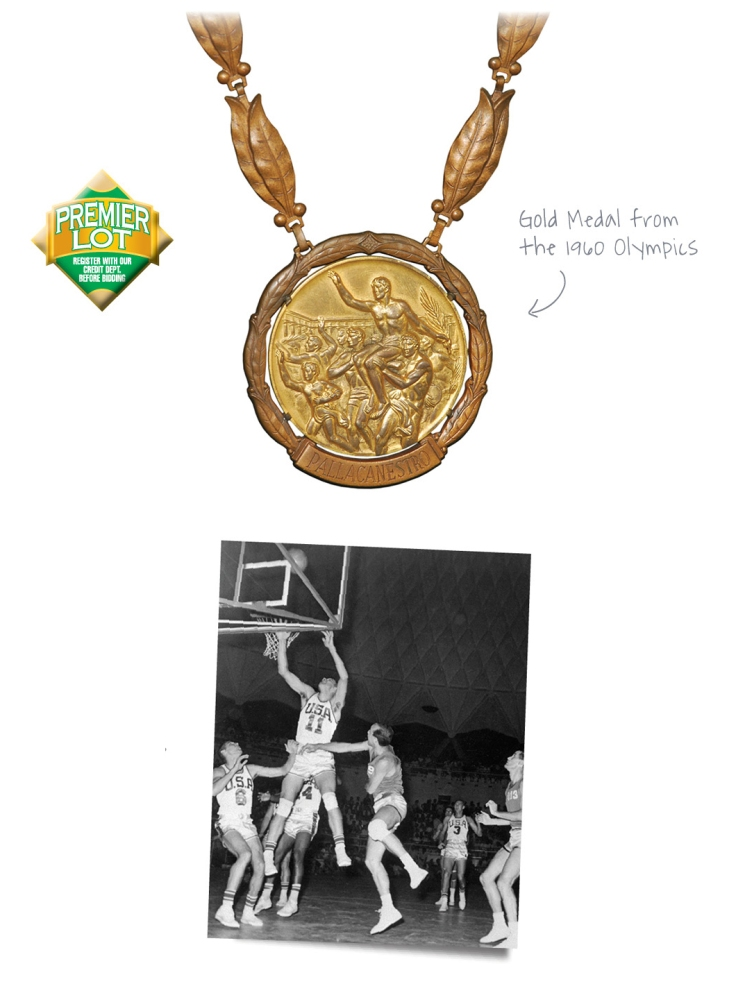 1960 Jerry Lucas USA Basketball Olympic Gold Medal