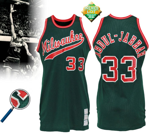 LOT #80 1973-74 Kareem Abdul-Jabbar Milwaukee Bucks Game-Used Road Jersey (Rare • Apparent Photomatch • Championship Season • HoF LOA)