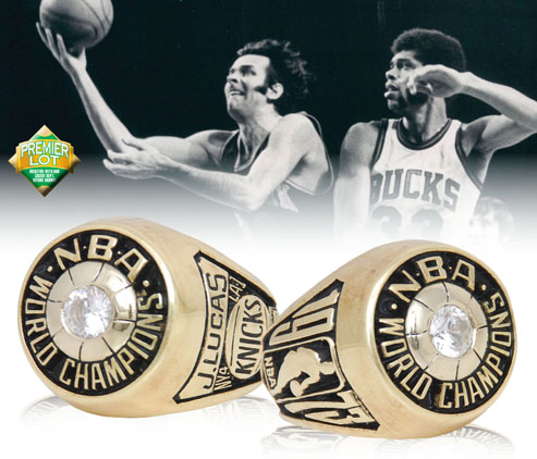 LOT #12 1973 Jerry Lucas New York Knicks World Championship Ring (Lucas LOA • HoF LOA)