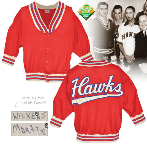 LOT #141 Circa 1960 Lenny Wilkens Rookie Era St. Louis Hawks Worn Warm-Up Jacket (Player LOA • Only Known Example • HoF LOA)