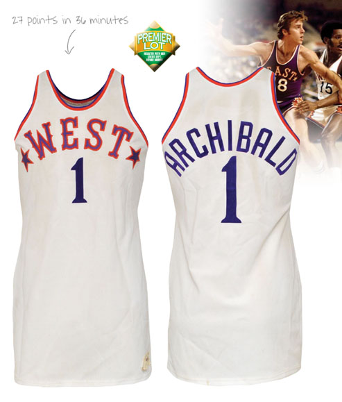"LOT #139 1975 Nate ""Tiny"" Archibald NBA Western Conference All-Star Game-Used Jersey (Letter of Provenance • HoF LOA)"