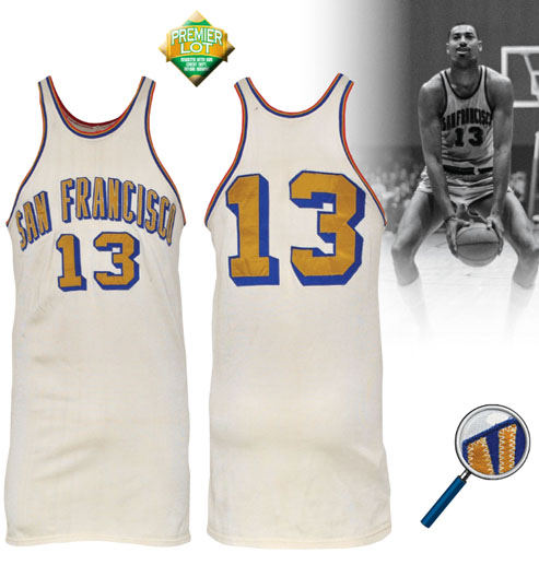 LOT #143 Circa 1963-64 Wilt Chamberlain San Francisco Warriors Game-Used Home Jersey (Exceedingly Rare • HoF LOA)