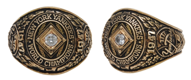 1947 Bill Bevens NY Yankees World Championship Players Ring