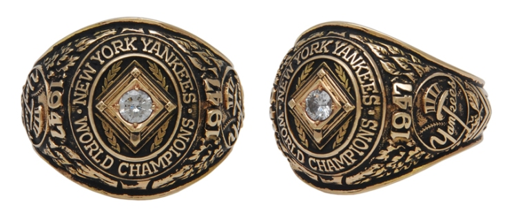 1947 Bill Bevens NY Yankees World Championship Players Ring