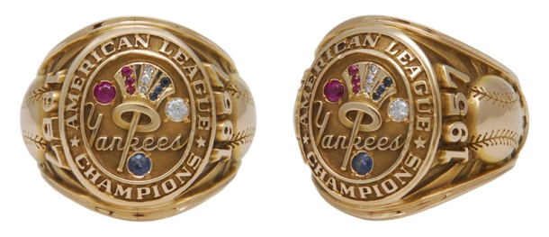 1957 Bob Turley New York Yankees AL Championship Players Ring