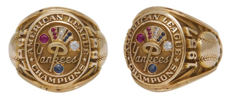 1957 Bob Turley New York Yankees AL Championship Players Ring