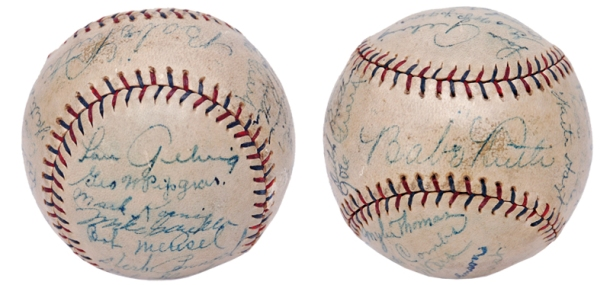 "1927 New York Yankees ""Murderers' Row"" Team Signed Official American League Baseball"