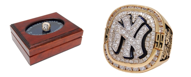 Mint 1999 New York Yankees World Championship Ring with Original Presentation Box