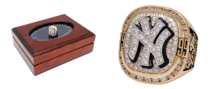 Mint 1999 New York Yankees World Championship Ring with Original Presentation Box