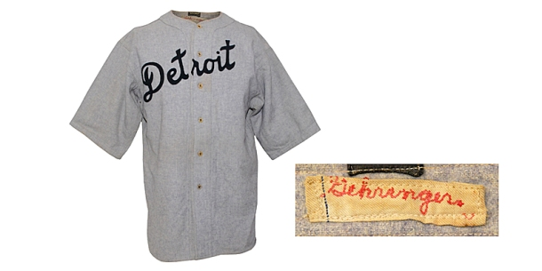 1930 Charlie Gehringer Detroit Tigers Game-Used Road Flannel Jersey
