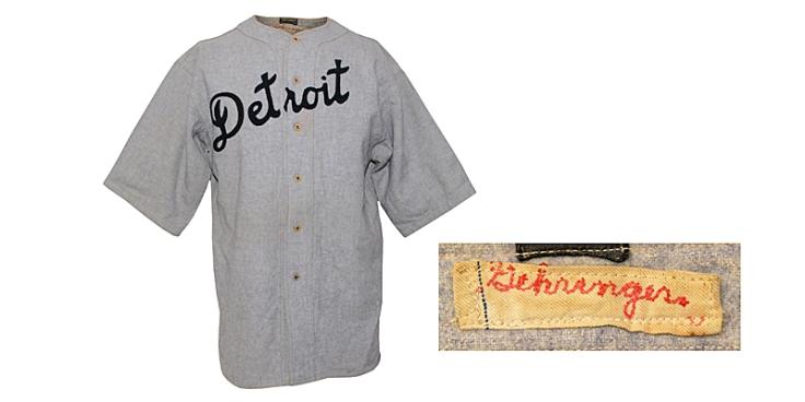 1930 Charlie Gehringer Detroit Tigers Game-Used Road Flannel Jersey