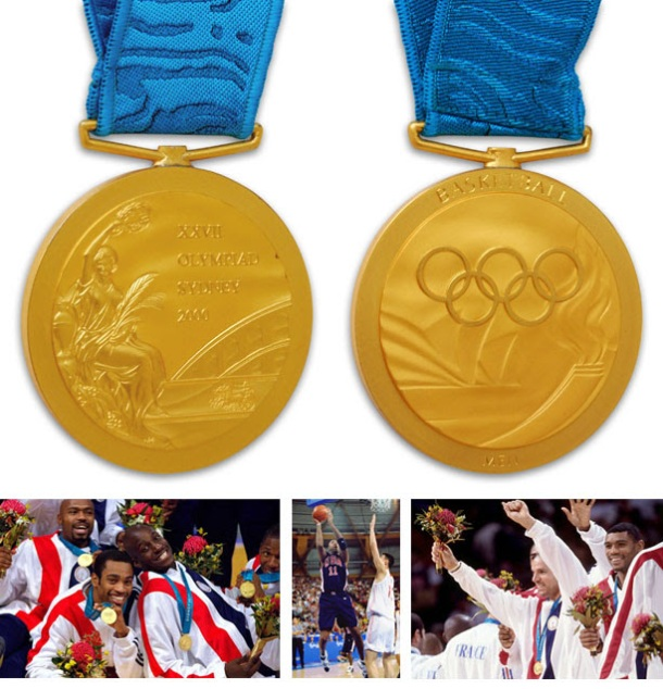 Just Consigned: 2000 Sydney Olympics Men's USA Basketball Gold Medal Presented To Vin Baker (Baker LOA)