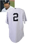 4/19/2012 Derek Jeter New York Yankees Game-Used & Autographed Home Jersey (Photomatch • 3,110th Career Hit - Tying Dave Winfield)