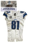 12/8/2013 Calvin Johnson Detroit Lions Game-Used Road Jersey (Multiple Photomatches • Unwashed • Franchise Record Setting Performance • PSA/DNA)