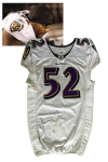 12/18/2011 Ray Lewis Baltimore Ravens Game-Used Road Jersey (Photomatch • Unwashed • Hammered)
