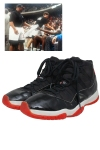 5/1/1996 Michael Jordan Chicago Bulls Eastern Conference Playoffs Game-Used & Autographed Sneakers (72-10 Championship Season • Ballboy LOA)