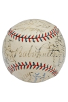 1932 New York Yankees Official American League Team Signed Baseball Including Ruth & Gehrig (Full JSA • Championship Season • 23 Sigs & 9 HoFers • Sourced From Grounds Crew)