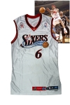 2002 Allen Iverson NBA All-Star Game-Used Eastern Conference Jersey (Dr. J's Retired No. 6 Tribute • Erving Family LOA)