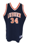 1983-84 Charles Barkley Auburn University Tigers Game-Used & Autographed Road Jersey (Sourced From Equipment Manager • Photo of Barkley Signing)