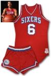 """1980 Julius """"Dr. J"""" Erving Philadelphia 76ers Game-Used Uniform (Pounded • Photomatch • Erving LOA)"""