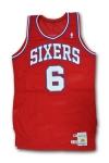 """1987 Julius """"Dr. J"""" Erving Philadelphia 76ers Game-Used Jersey (Final Season • Erving LOA)"""