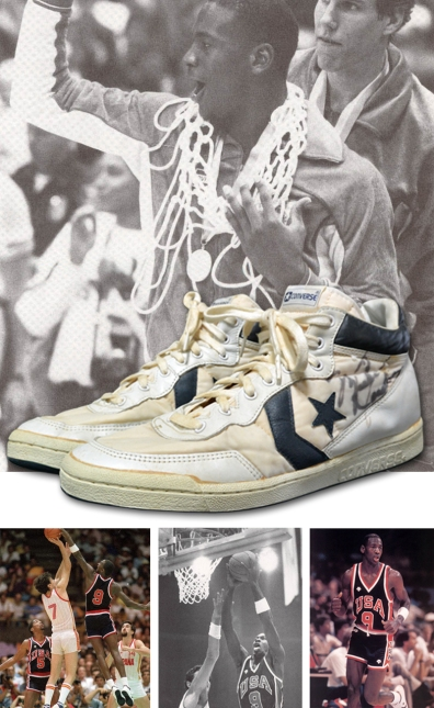 1984 Michael Jordan USA Olympic Team Gold Medal Game-Used Sneakers (Pristine Provenance • Gifted From MJ In The Locker Room After Medal Ceremony)