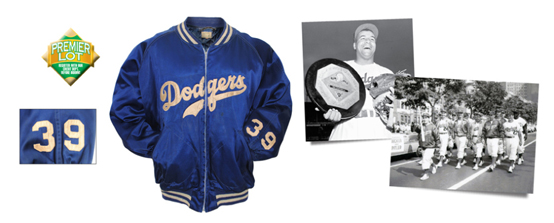 LOT #634: 1950s Roy Campanella Brooklyn Dodgers Worn Heavyweight Satin Jacket (Rare • Sourced From Dodgers Charity Auction • Likely NL MVP & Championship Season)
