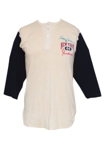 LOT #668: Circa 1980 Reggie Jackson New York Yankees Game-Used & Autographed Undershirt