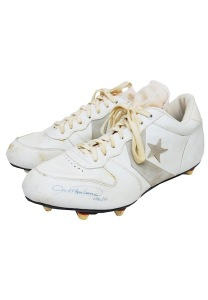 LOT #978: 1981 Joe Montana San Francisco 49ers Worn & Autographed Cleats