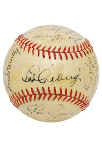 LOT #532: 1935 New York Yankees Team-Signed Baseball