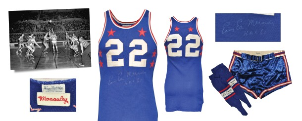 "1953 ""Easy"" Ed Macauley NBA All-Star Game-Used & Autographed Eastern Conference Uniform with Stirrups (3)(JSA • Macauley Family LOA)"