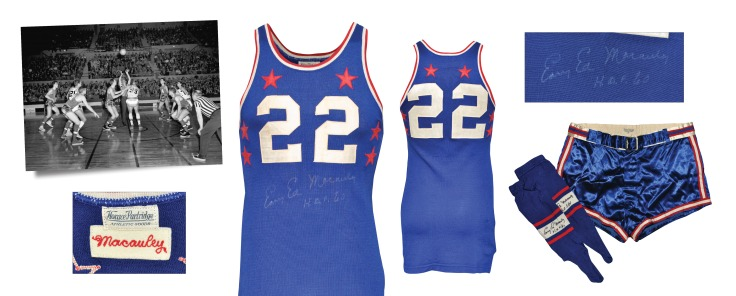 "1953 ""Easy"" Ed Macauley NBA All-Star Game-Used & Autographed Eastern Conference Uniform with Stirrups (3)(JSA • Macauley Family LOA)"