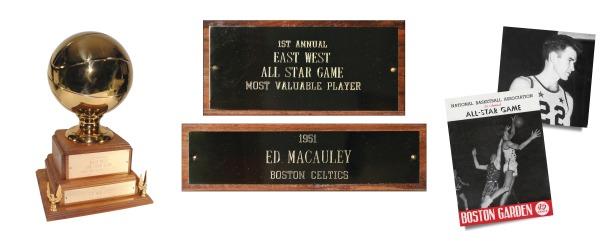 "Historically Significant 1951 Inaugural NBA All-Star Game MVP Trophy Awarded To HOFer ""Easy"" Ed Macauley (MINT • Macauley Family LOA)"