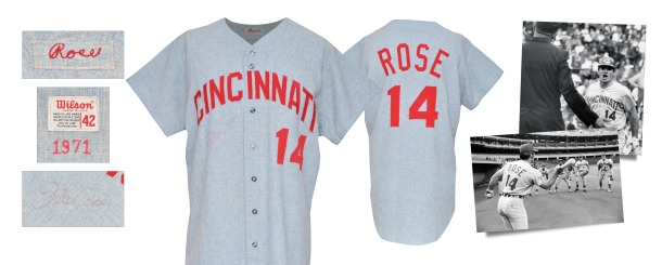 1971 Pete Rose Cincinnati Reds Game-Used & Autographed Road Flannel Jersey with Possible Attribution to the 1970 World Series (JSA • PSA/DNA • Graded A9.5)