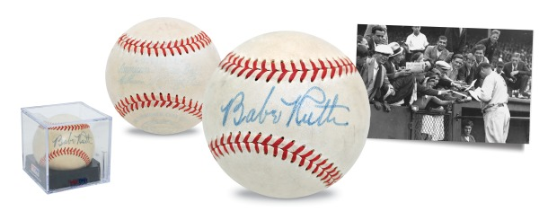High-Grade 1948 Babe Ruth Single-Signed Official American League Baseball (Full JSA LOA • PSA/DNA Sig Grade 8 • Letter of Provenance • Hobby Fresh)