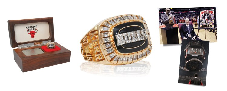 """1991-91 Johnny """"Red"""" Kerr Chicago Bulls NBA Championship Ring with Original Presentation Box (MINT • Sourced From The Family)"""