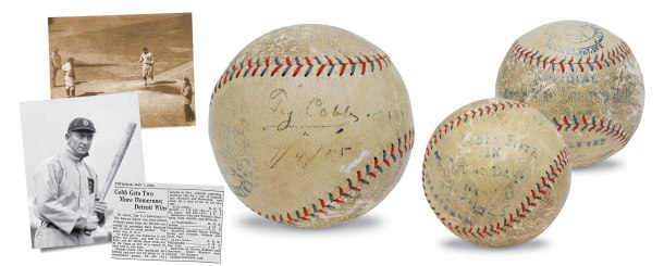 Incredible 5/6/1925 Ty Cobb Game-Used & Autographed Record-Setting Home Run Baseball (Full JSA • PSA/DNA • Only Known Fully Documented Cobb HR Ball • 5th of 5 HRs In Consecutive Games)