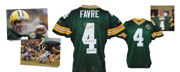 12/30/2007 Brett Favre Green Bay Packers Game-Used & Autographed Home Jersey (JSA • Favre LOA • Final Regular Season Game In Lambeau • Career TDs #441 & #442 • Photomatch)