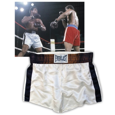 """Historic 10/30/1974 Muhammad Ali """"The Rumble In The Jungle"""" Fight-Worn Trunks Vs. George Foreman"""