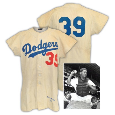 1952 Roy Campanella Brooklyn Dodgers Game-Used Home Flannel Jersey