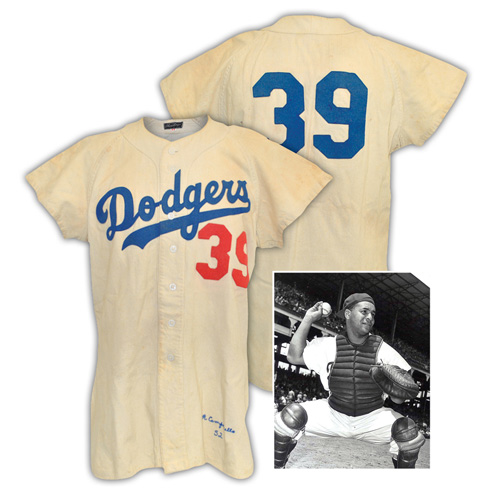 LOT #4: 1952 Roy Campanella Brooklyn Dodgers Game-Used Home Flannel Jersey