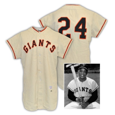 1957 Willie Mays New York Giants Game-Used Home Flannel Jersey